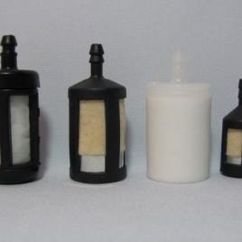 Фильтр бензиновый черный маленький войлок коса